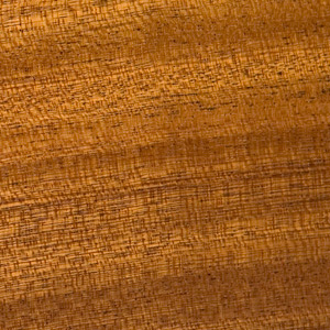 Image showing texture of Sapele wood used to construct McGrath Woodworks taxidermy pedestals, mounts, and other products
