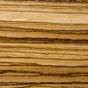 Image showing texture of Zebrawood used to construct McGrath Woodworks taxidermy pedestals, mounts, and other products